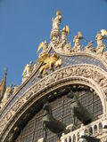 Detail of Saint Mark Basilica, Venice, Italy. Basilica di San Marco, Venice, Italy royalty free stock photos