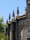 A detail of the Saint Patrick church. St Patricks Cathedral is the church of the Roman Catholic Archdiocese of Melbourne in Victoria in Australia Royalty Free Stock Photo
