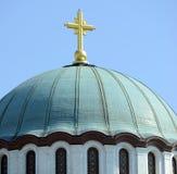 Detail of Saint Sava church in Belgrade - Serbia Royalty Free Stock Images