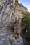 Detail from Saint Sava hermitage high up in a mountain near Studenica monastery Royalty Free Stock Images