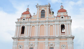 The detail of Saint St. Casimir's Church in Vilnius, Lithuania. Casimir church in Old Town of Vilnius city. stock images