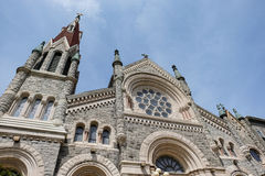 Detail of Saint Xavier Church. In Philadelphia, Pennsylvania, USA Stock Photo