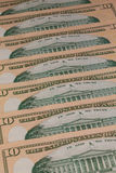 Detail of the same pattern of dollar bills Royalty Free Stock Photography