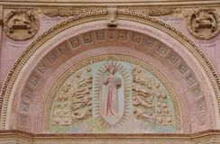 Detail of the San Bernadino church Royalty Free Stock Photo