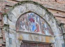 Detail of San Domenico church door Stock Photo