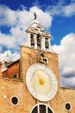 Detail of San Giacomo di Rialto church, Venice Stock Photo