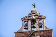 Detail of San Giacomo di Rialto church, Venice, Italy Stock Image
