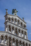 Detail of the San Michele in Foro in Lucca Royalty Free Stock Image