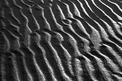 Detail of the sand pattern at the beach Island of Fanoe in Denma Royalty Free Stock Photo