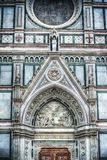 Detail of Santa Croce cathedral in Florence Royalty Free Stock Image