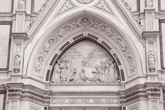Detail on Santa Croce Church Facade, Florence Royalty Free Stock Photos
