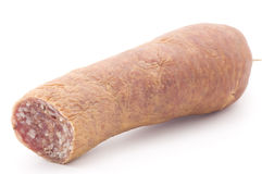 Detail of sausage stock photography