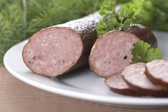 Detail of sausages Royalty Free Stock Photography