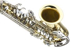 Detail of saxaphone Royalty Free Stock Images