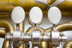 Detail of saxhorn Stock Photos