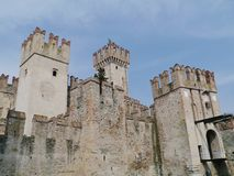 Detail of the Scaliger Castle at the lago di Garda Stock Photography