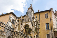 Detail of Scaliger Tombs,Arche Scaligere of Cansignorio - Verona Italy Royalty Free Stock Image