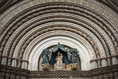 Detail of scenic Orvieto Cathedral Duomo di Orvieto, Umbria, Italy Royalty Free Stock Images