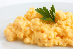 Detail of scrambled eggs Stock Photos