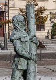 Detail of sculpture in the central square of Wieliczka Royalty Free Stock Photos