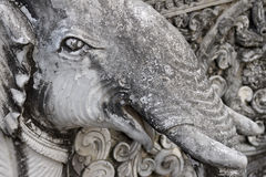 Detail of a sculpture elephant. In Wat Pan Whaen, Chiang Mai, Thailand Stock Images