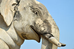 Detail of sculpture elephant Royalty Free Stock Photos
