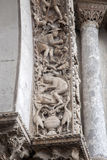 Detail of Sculpture on Facade San Marcos Cathedral, Venice Stock Images
