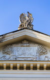 Detail of sculpture on the portico Royalty Free Stock Image