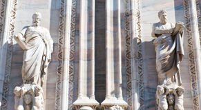 Detail sculptures cathedral Milan Royalty Free Stock Images