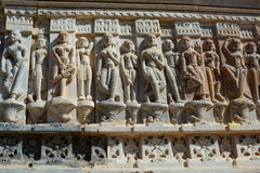 Detail of the sculptures. Jagdish Temple. Udaipur. Rajasthan. India. Jagdish Temple is a large Hindu temple in the middle of Udaipur in Rajasthan. It is a big Stock Images