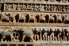 Detail of the sculptures. Jagdish Temple. Udaipur. Rajasthan. India Royalty Free Stock Image