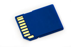 Detail of SD card Royalty Free Stock Photos