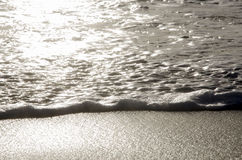 Detail of seashore at sunset. In summertime stock photography