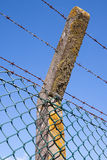 Detail of a security fence. Around a nuclear installation Stock Photo