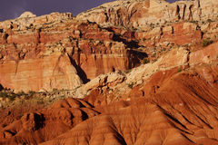 Detail sedimentary rock formations Royalty Free Stock Photography
