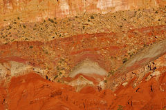 Detail sedimentary rock formations Stock Images