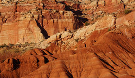 Detail sedimentary rock formations Royalty Free Stock Image