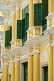 Detail, Senate square, macau peninsula. Senate Square, Largo do Senado. A colorful typical Iberian town square, this is the traditional heart of Macau city. It stock image