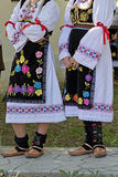 Detail of serbian female folk costume Royalty Free Stock Images