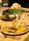 Detail of served table Royalty Free Stock Image