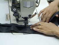 Detail of sewing machine Stock Photography