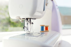 Detail of sewing machine Stock Photos
