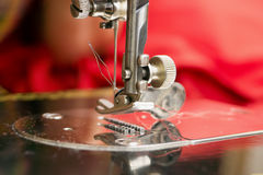 Detail of a sewing machine Royalty Free Stock Image