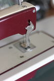 Detail of the sewing machine Stock Photo