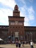 Sforza Castle`s Main Tower royalty free stock images