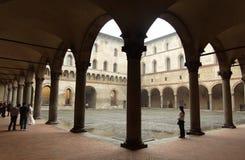 Detail of Sforzas Castle in Milan Stock Image