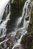 Detail Sgwd Isaf Clun Gwyn Waterfall River Afon Mellte. Brecon Beacon National Park, South Wales Stock Photo