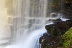 Detail Sgwd yr Eira waterfall on the Afon Hepste Stock Photography