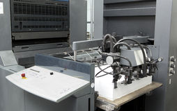 Detail sheet feeder for offset printing machine Stock Photography
