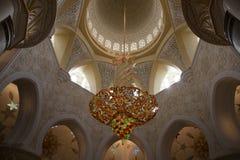 Sheikh Zayed Grand Mosque, Abu Dhabi close up interior, Abu Dhabi, UAE royalty free stock images